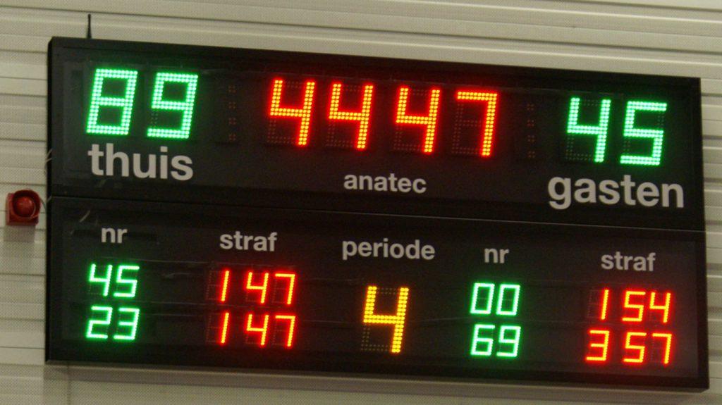 voorbeeld van  AK 9.24-20.11 IR indoor scorebord