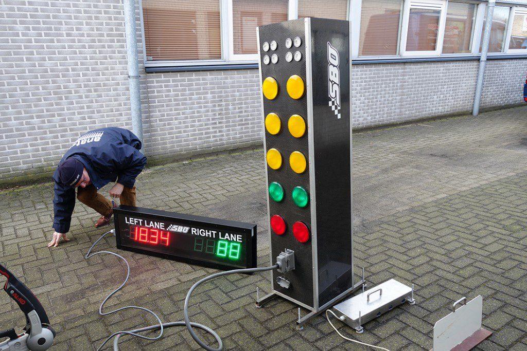 testen van een dragrace systeem
