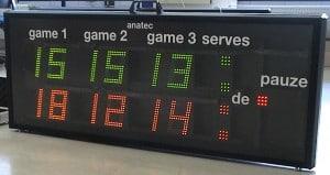 badminton scorebord