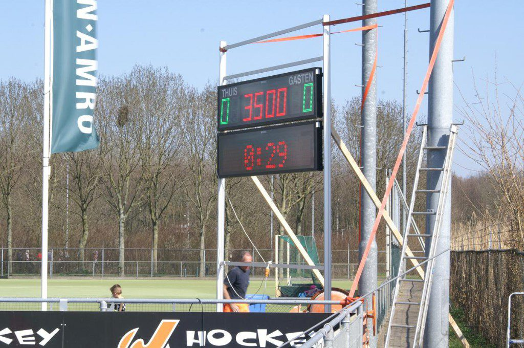 outdoor scorebord voor hockey