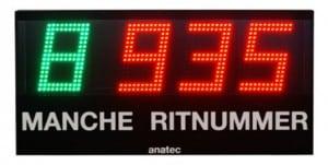 mache en ritnummer scorebord voor BMX