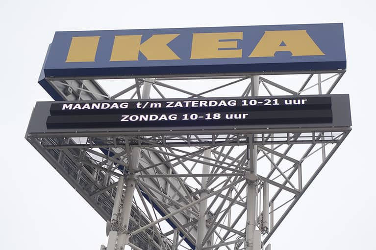 outdoor led display bij ikea
