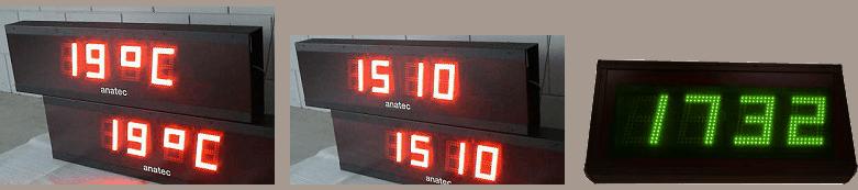 enekle voorbeelden van tijd en temperatuur displays