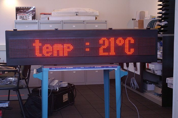 temperatuur display