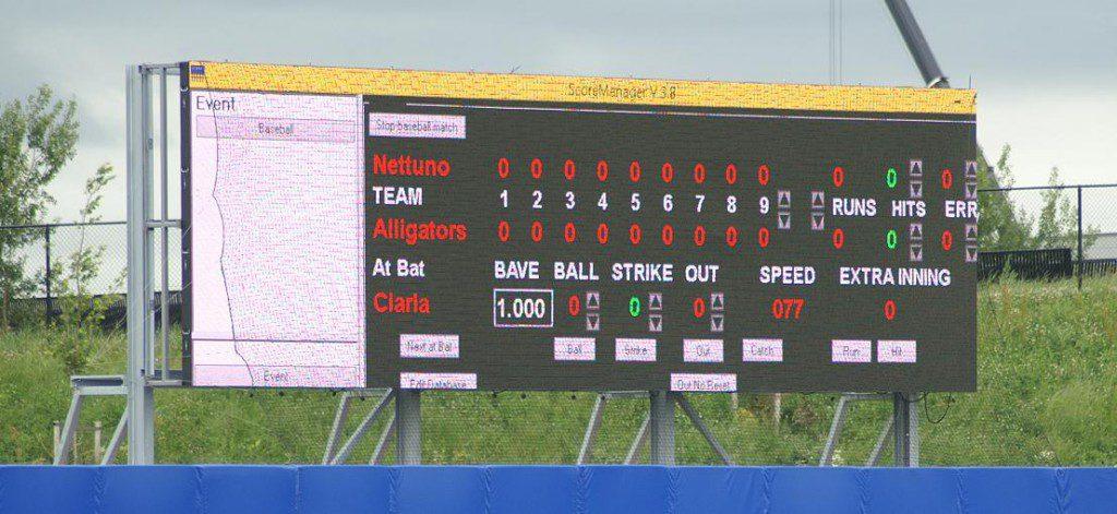 LED video display voor honkbal