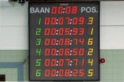 scorebord voor waterpolo en wedstrijdzwemmen