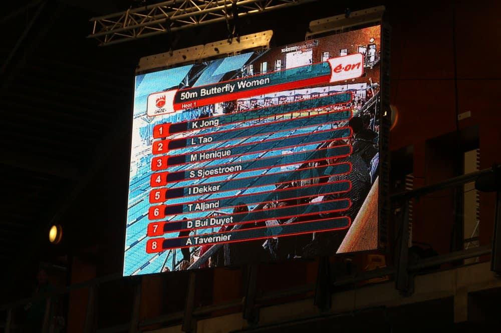 video display zwemsysteem