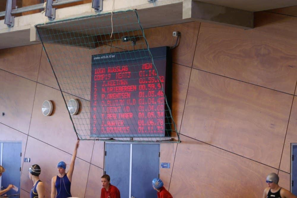matrix scorebord voor  wedstrijdzwemmen en waterpolo